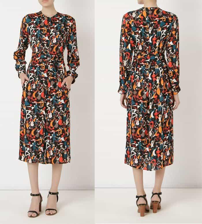 Andrea Marques Midi Printed Shirt Dress