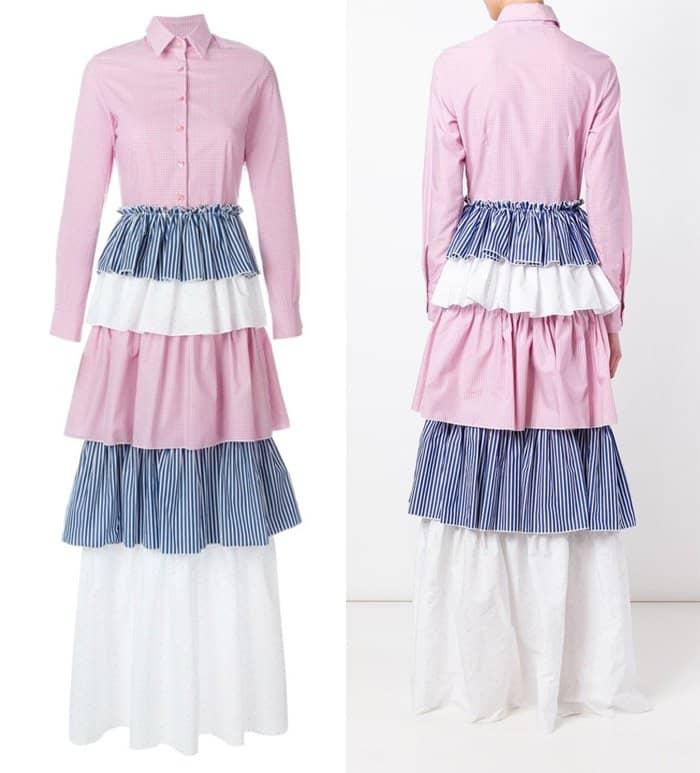 Daizy Shely Long Tiered Shirt Dress