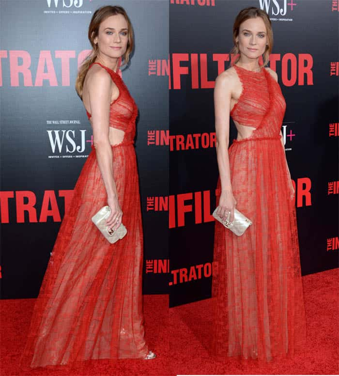 Diane Kruger Stuns in Cut-Out Jason Wu Gown