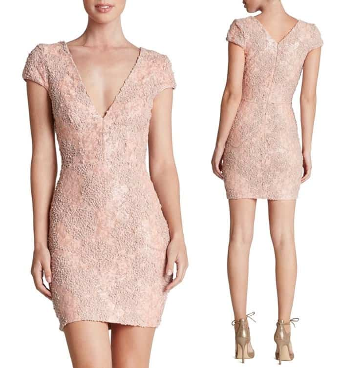 Dress the Population 'Zoe' Embellished Mesh Body-con Dress3