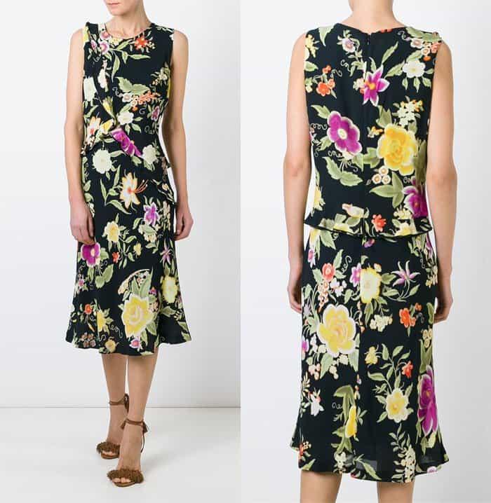 Etro Sleeveless Floral Print Dress