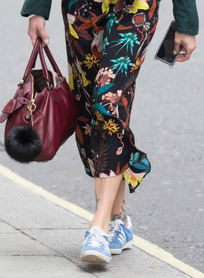 Fearne Cotton arriving at the BBC Radio 2 studios
