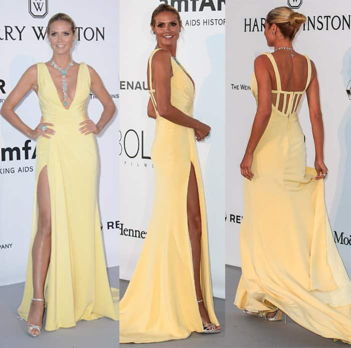 Heidi Klum at the amfAR fundraiser event at Hotel Du Cap Eden Roc in Cannes, France on May 19, 2016