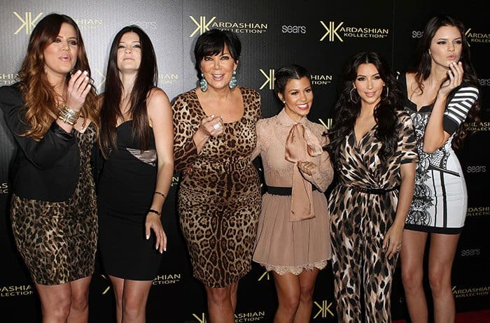 Kris Jenner and family at the Kardashian Kollection Launch Party in California on August 18, 2011