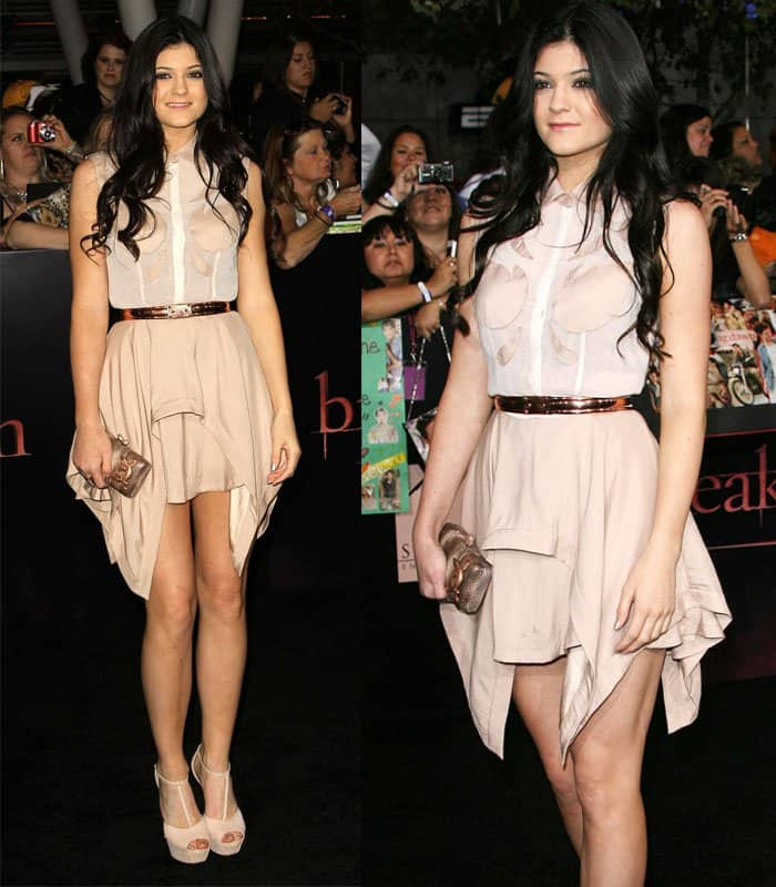 Kylie Jenner at The Twilight Saga: Breaking Dawn – Part 1 World premiere held at Nokia Theatre in California on November 14, 2011