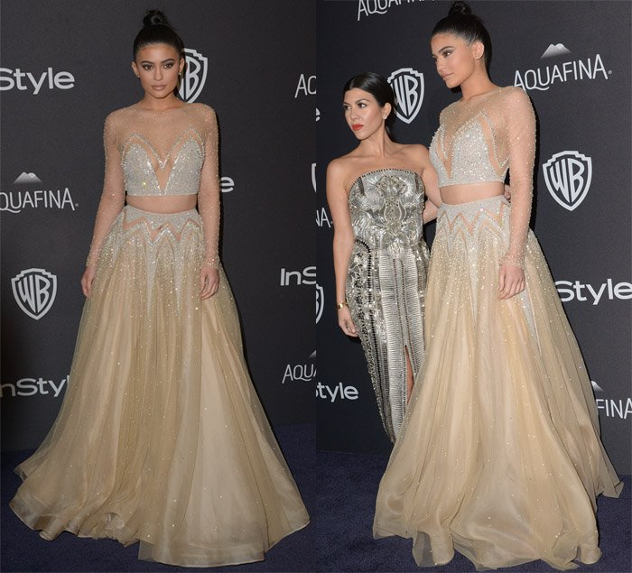 Kylie Jenner at the InStyle and Warner Bros 73rd Annual Golden Globes Post- Party at the Beverly Hilton Hotel in Los Angeles on January 10, 2016