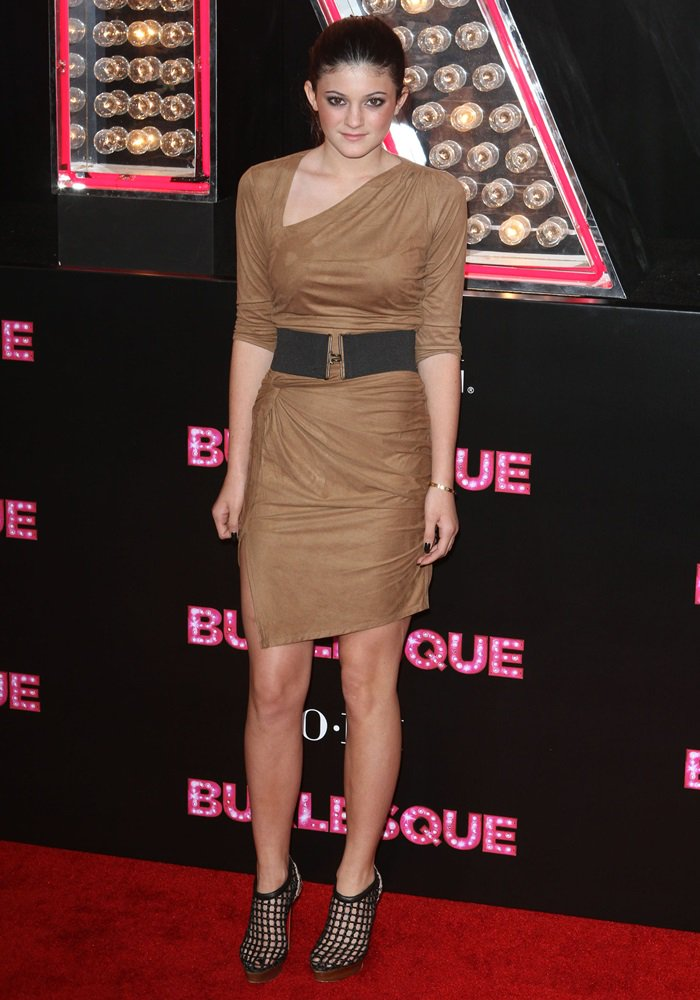 Kylie Jenner at the Los Angeles premiere of 'Burlesque' held at the Grauman's Chinese Theatre in California on November 15, 2010