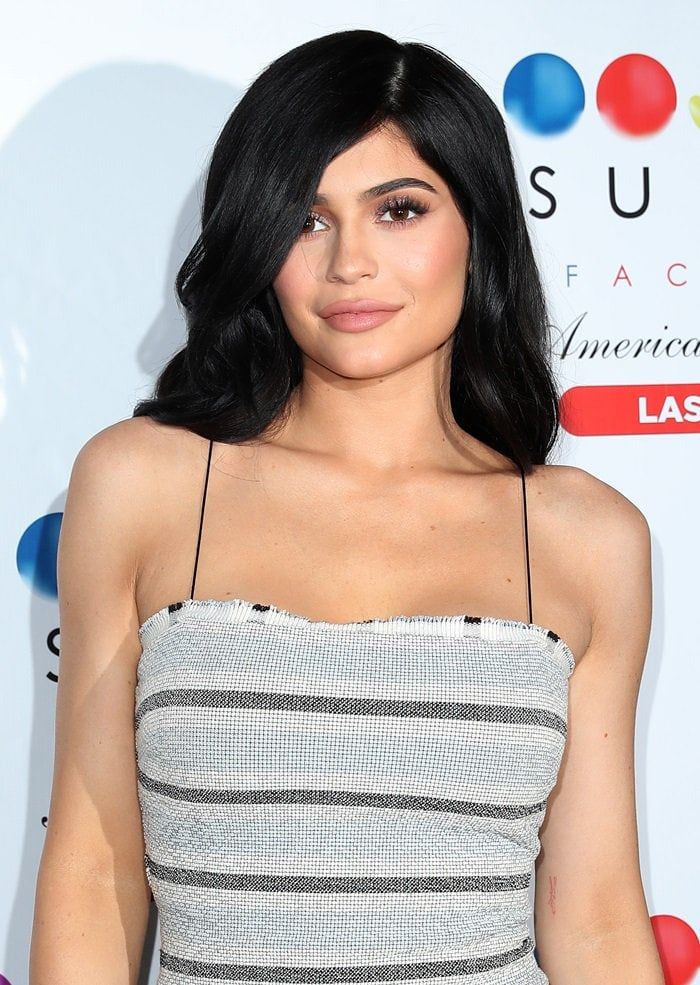 Kylie Jenner continues the grand opening celebration of Sugar Factory American Brasserie in Las Vegas at Fashion Show Mall on April 23, 2017