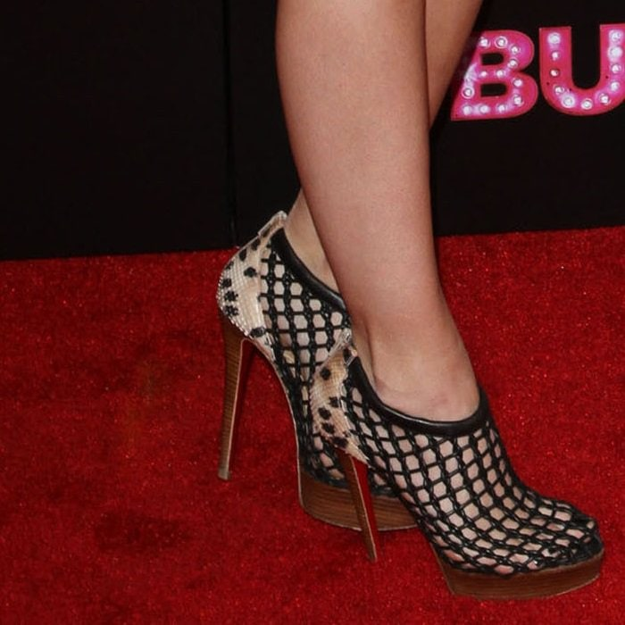 Kylie Jenner wearing sky-high heels by Christian Louboutin