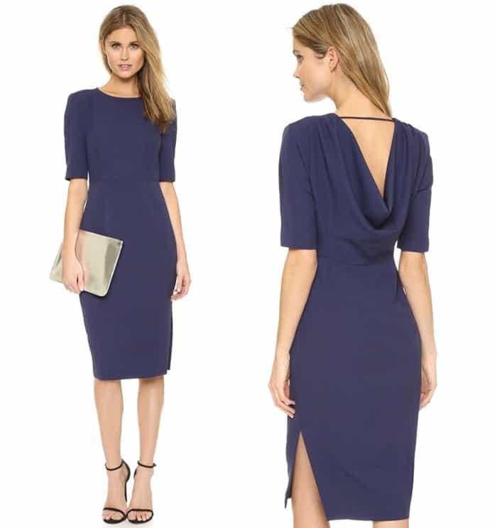 ST Olcay Gulsen Tailored Drape Dress3