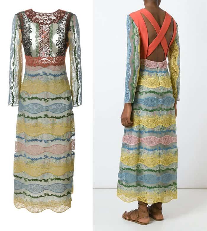 Valentino Fushion Lace Maxi Dress
