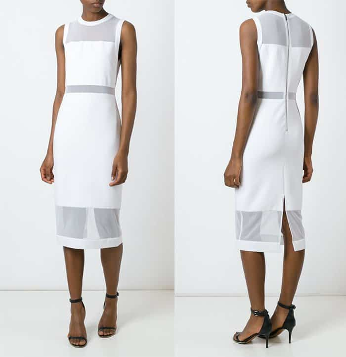 Alice + Olivia Karman Semi-Sheer Panel Fitted Dress