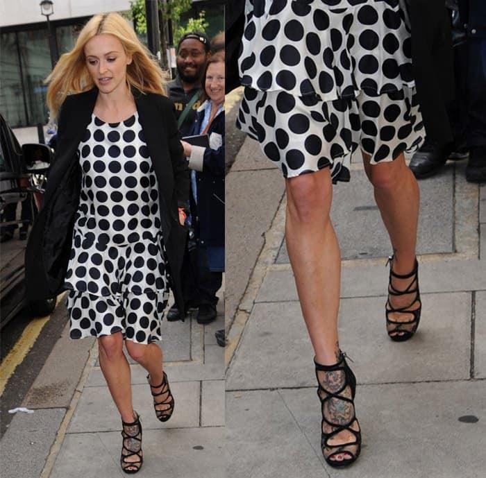 Fearne Cotton polka dot dress2
