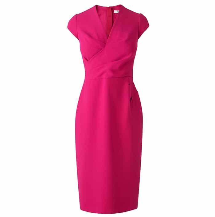 L.K. Bennett Una Red Tailored Wrap Dress