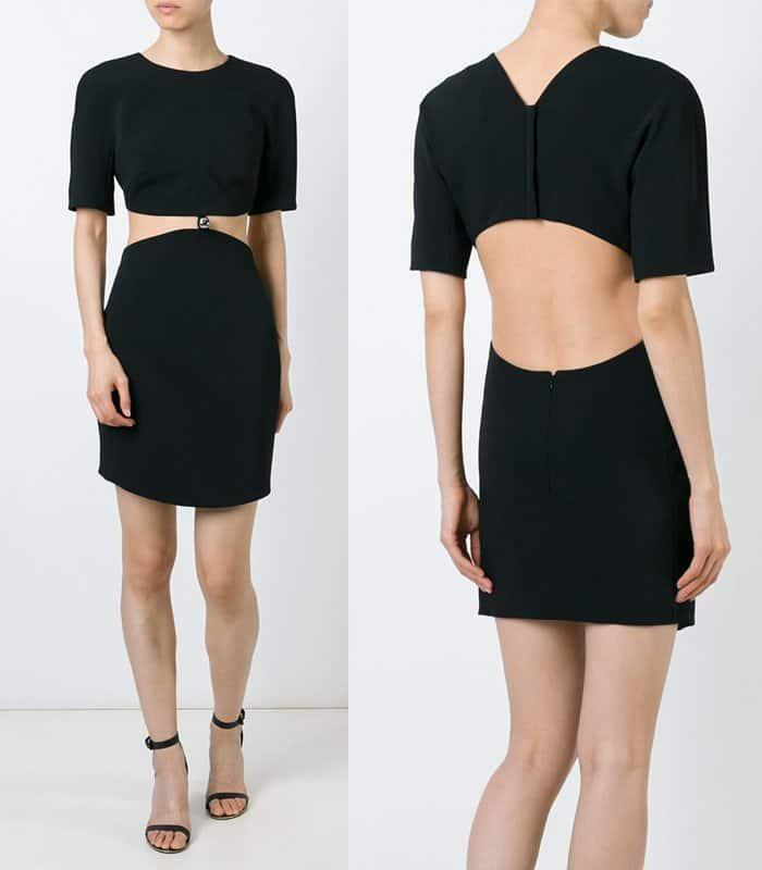 Mugler Cut Out Mini Dress