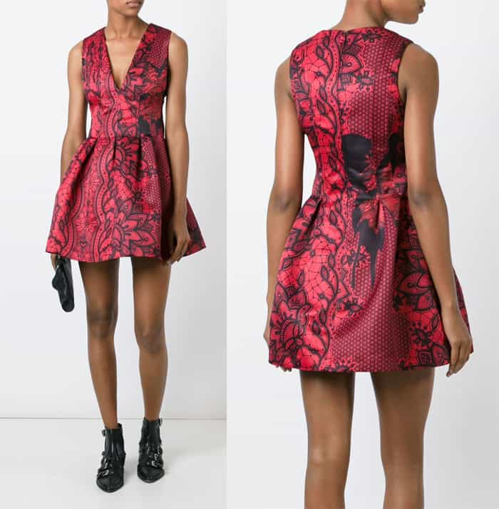 Philipp Plein Printed Mini Dress