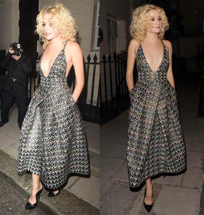 Pixie Lott Midi Dress2