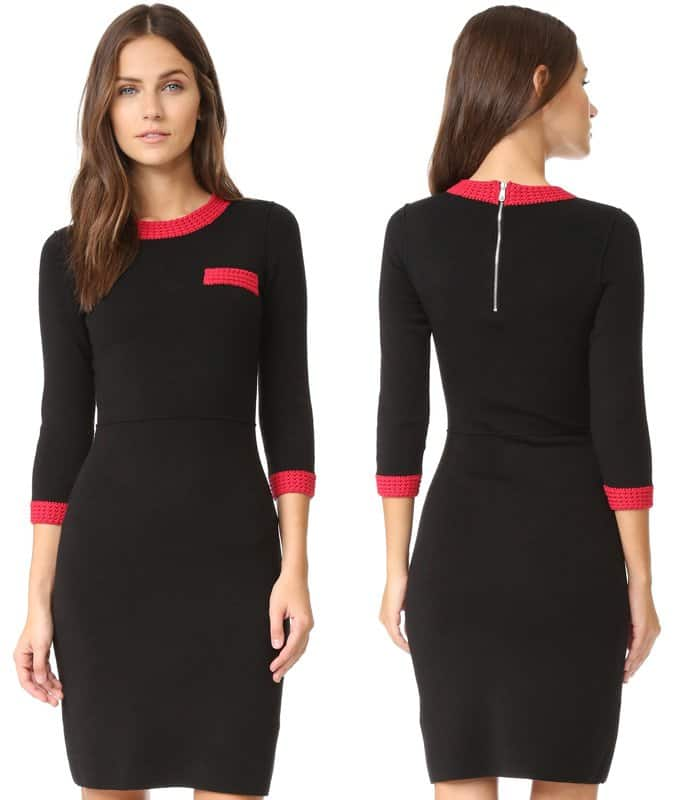 Sonia by Sonia Rykiel Knit Pocket Sweater Dress