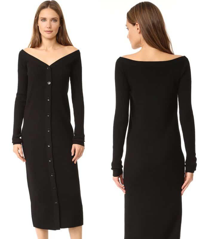 Tibi Merino Rib Reversible Cardigan Dress