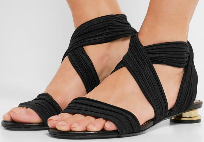 Tom Ford Plisse-satin sandal