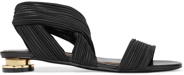 Tom Ford Plisse-satin sandals