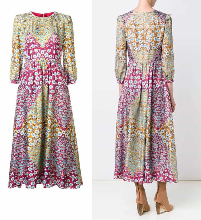monique-lhuillier-floral-print-midi-dress