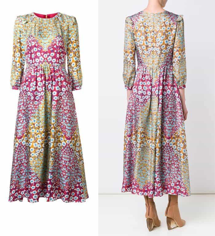 monique-lhuillier-floral-print-midi-dress