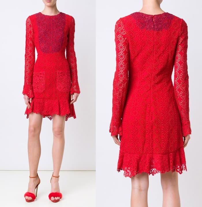 monique-lhuillier-panelled-lace-dress