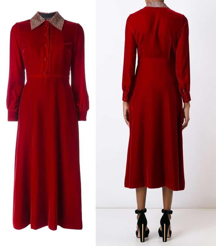 saint-laurent-velvet-midi-shirt-dress