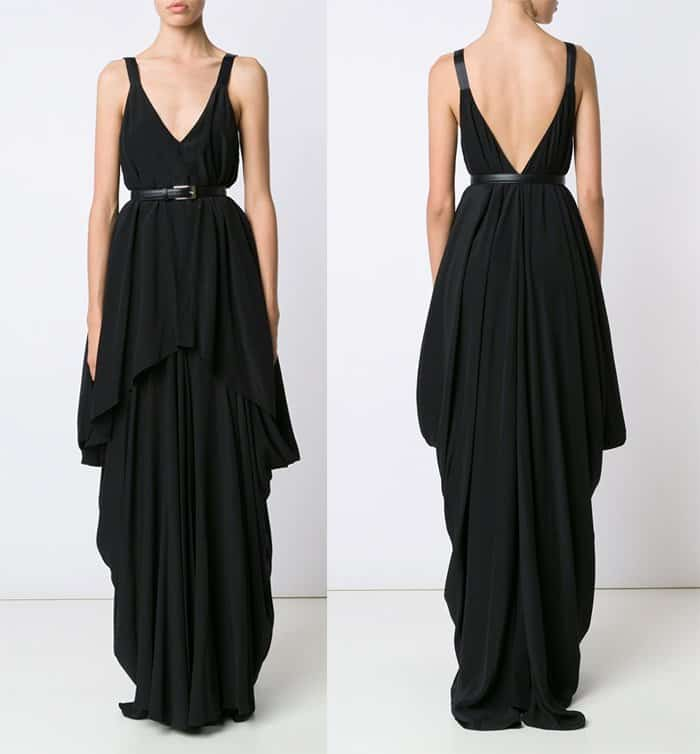 vera-wang-draped-belted-gown