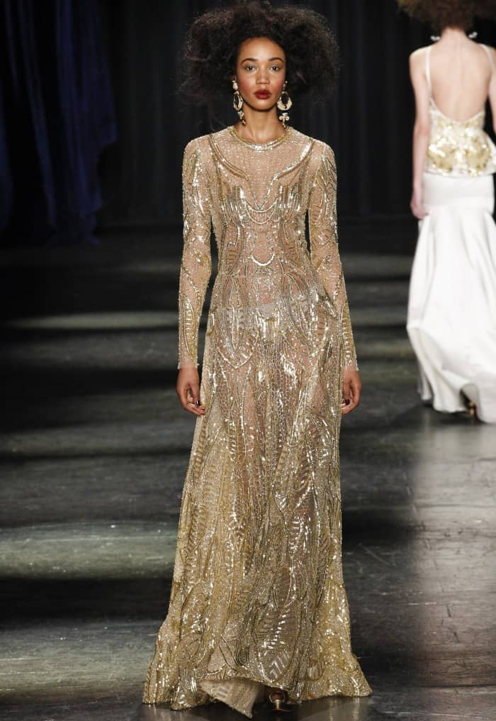 naeem-khan-fall-2016-gold-gown-laverne-cox
