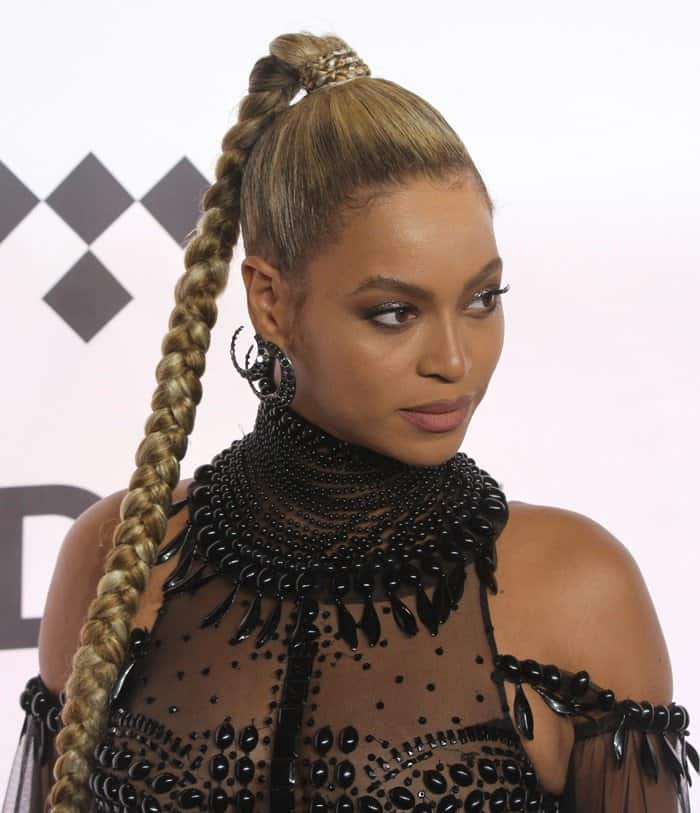 Beyonce turns heads in a sheer dress by Guillermo Gattioni