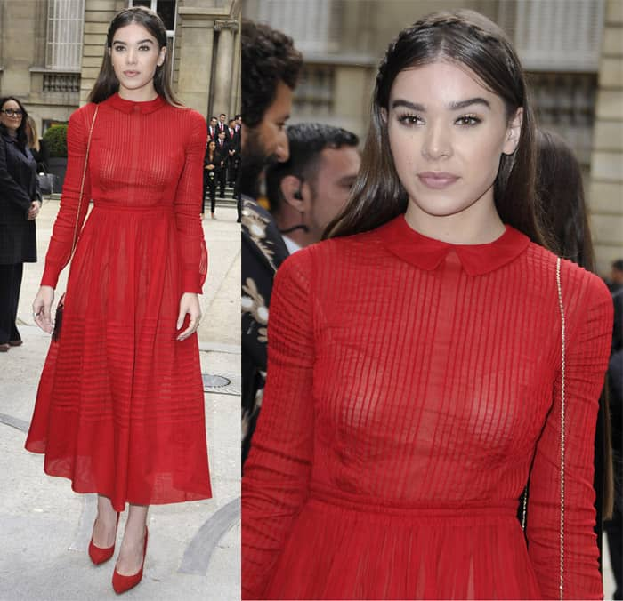 hailee-steinfeld-paris-fashion-week