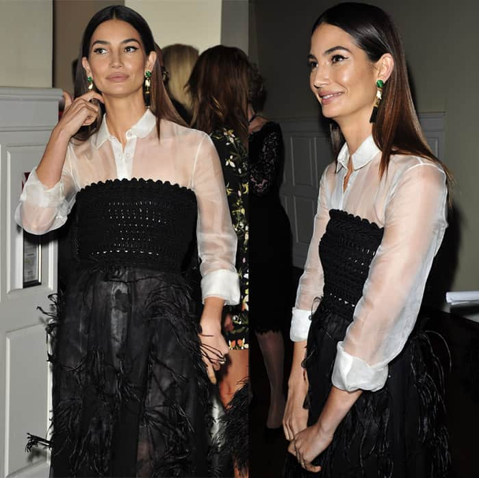 lily-aldridge-carolina-herrera-dress3