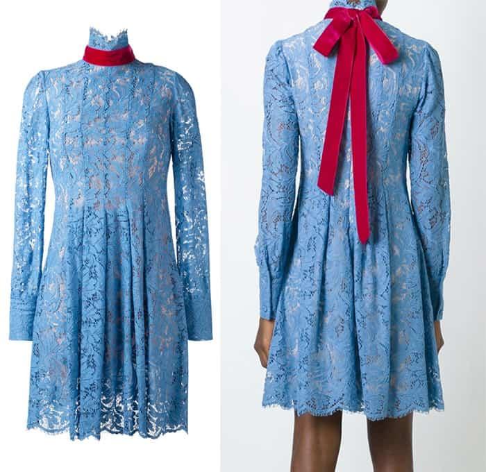 msgm-high-neck-lace-dress