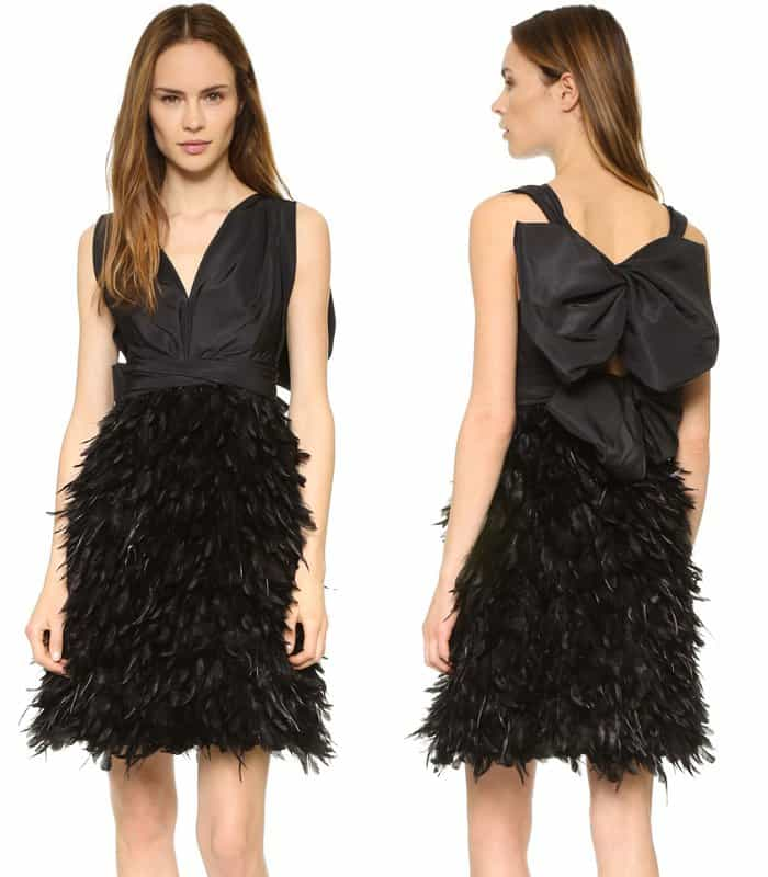 marchesa-v-neck-cocktail-dress