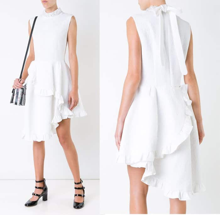 simone-rocha-ruffled-asymmetric-dress