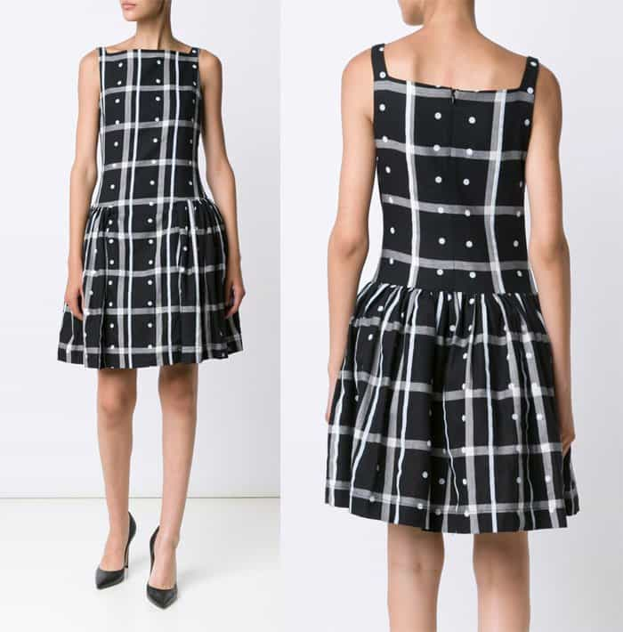 vivienne-westwood-checked-pleated-skirt-dress