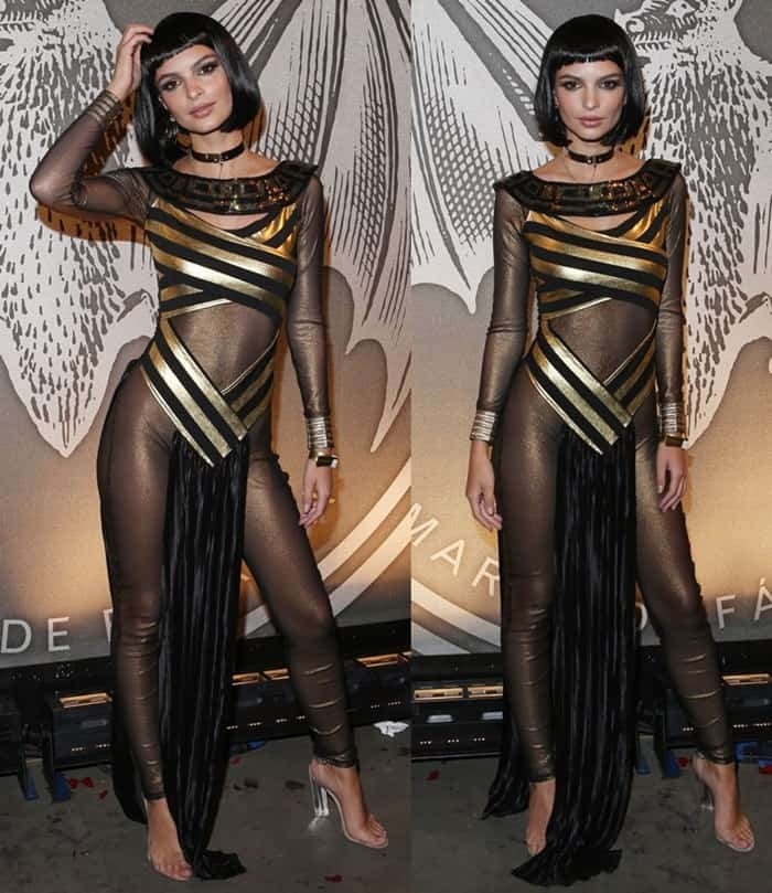 """Emily Ratajkowski at the Bacardi x Kenzo Digital Present """"We Are The Night"""" in New York on October 29, 2016"""
