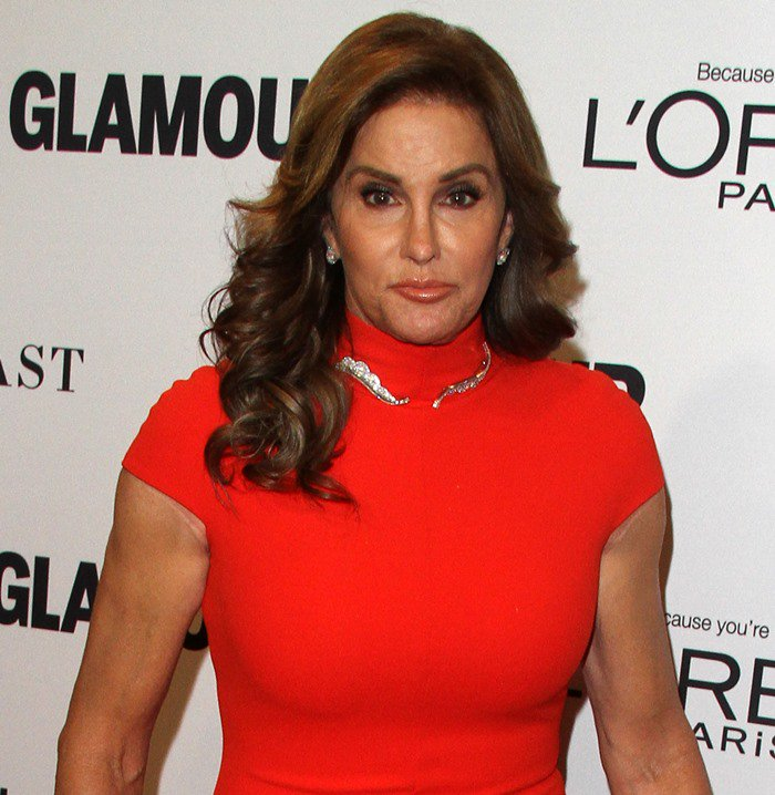 2015 Woman of the Year Caitlyn Jenner in a form fitting dress