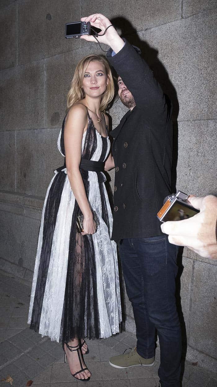 Karlie Kloss attends a Carolina Herrera party