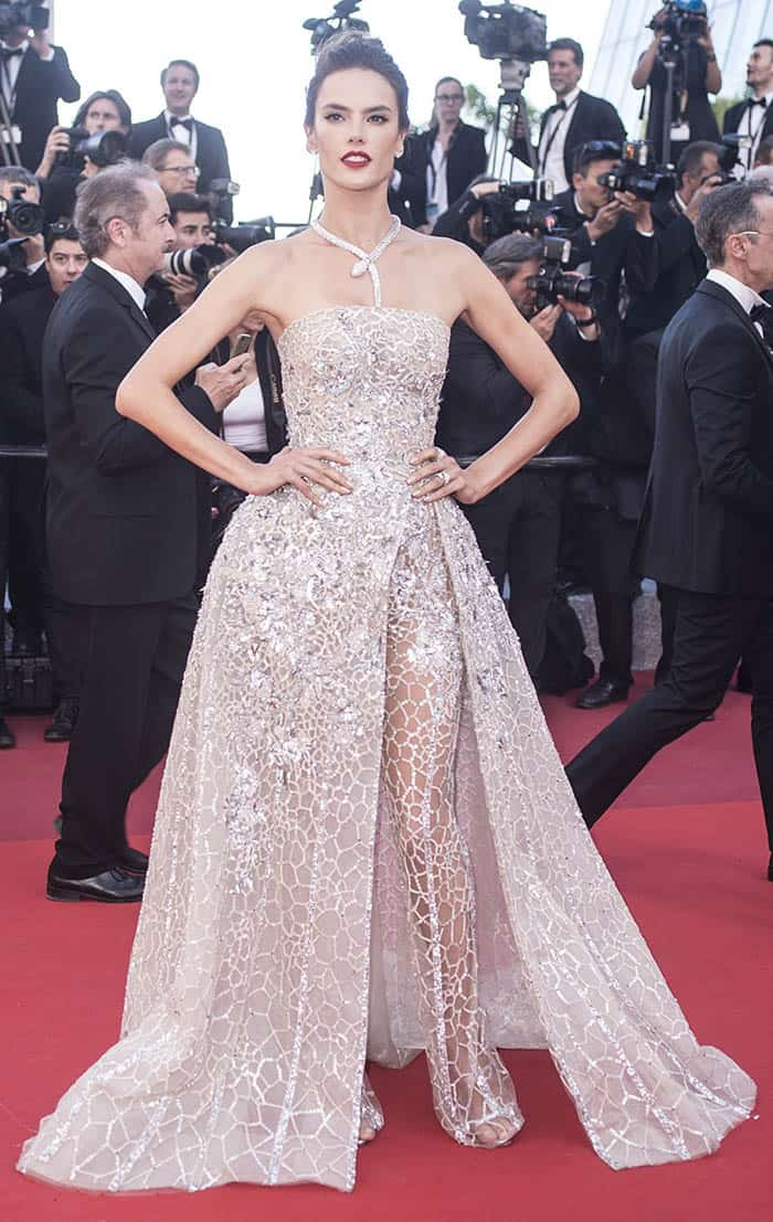 Alessandra Ambrosio at the 69th Cannes Film Festival premiere of The Last Face on May 20, 2016