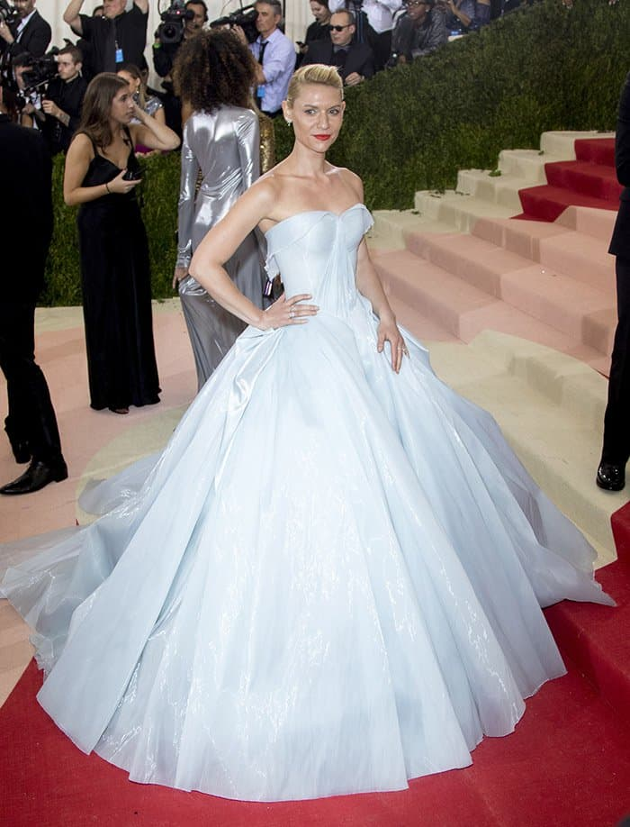 Claire Danes at the Manus x Machina: Fashion In An Age Of Technology Costume Institute Gala held at the Metropolitan Museum Art in New York on May 2, 2016