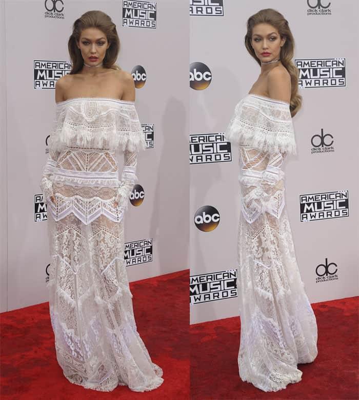 Gigi Hadid at The American Music Awards 2016 in Los Angeles on November 21, 2016