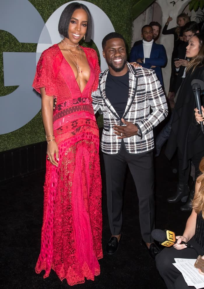 Kelly Rowland and Kevin Hart at the 2016 GQ Men of the Year Party held at the Chateau Marmont in West Hollywood on December 8, 2016