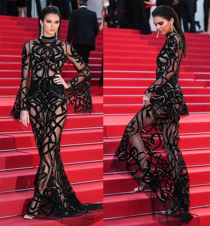 Kendall Jenner at the premiere of 'Mal de Pierres' (From the Land of the Moon) at the Grand Theatre Lumiere in Cannes on May 15, 2016