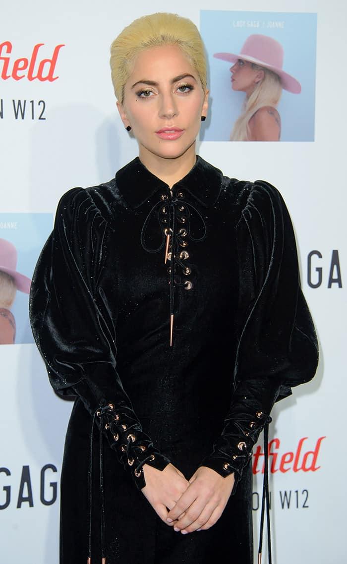 Lady Gaga performs at a secret location