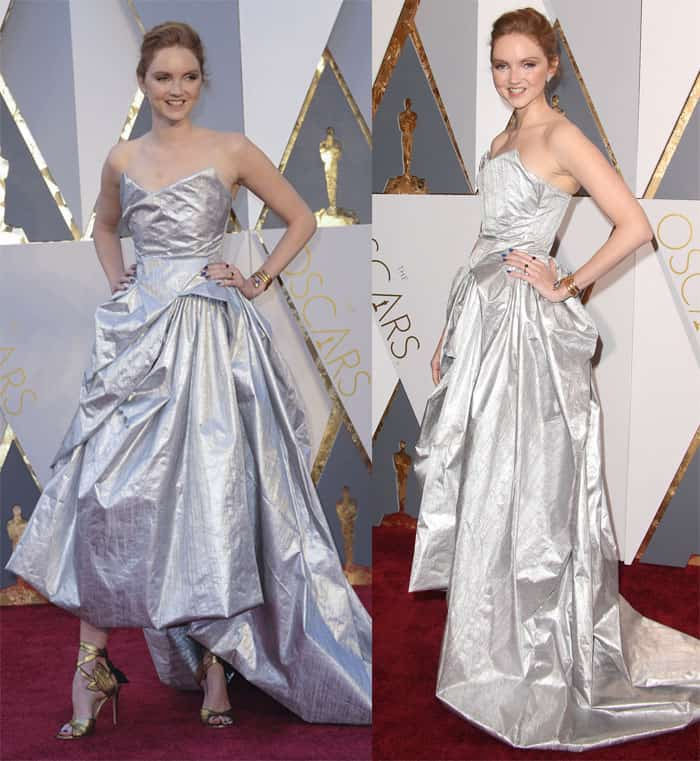 Lily Cole at the 88th Annual Academy Awards at Hollywood Highland Center in Los Angeles on February 29, 2016