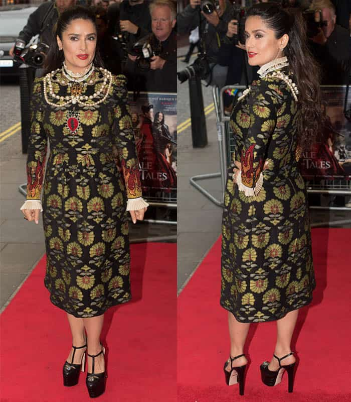 Salma Hayek attends the UK Premiere of 'Tale Of Tales' at The Curzon Mayfair on June 1, 2016 in London, England