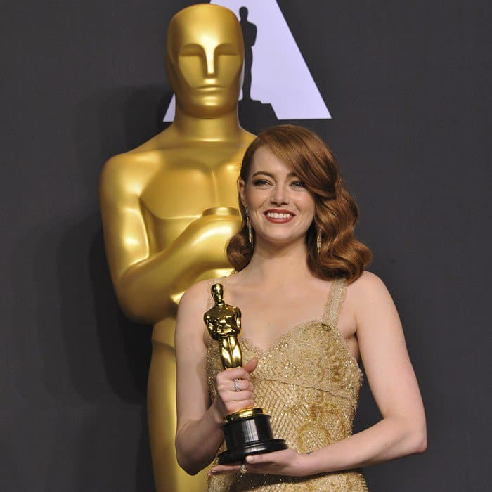 Emma Stone wins the Best Actress Oscar for La La Land
